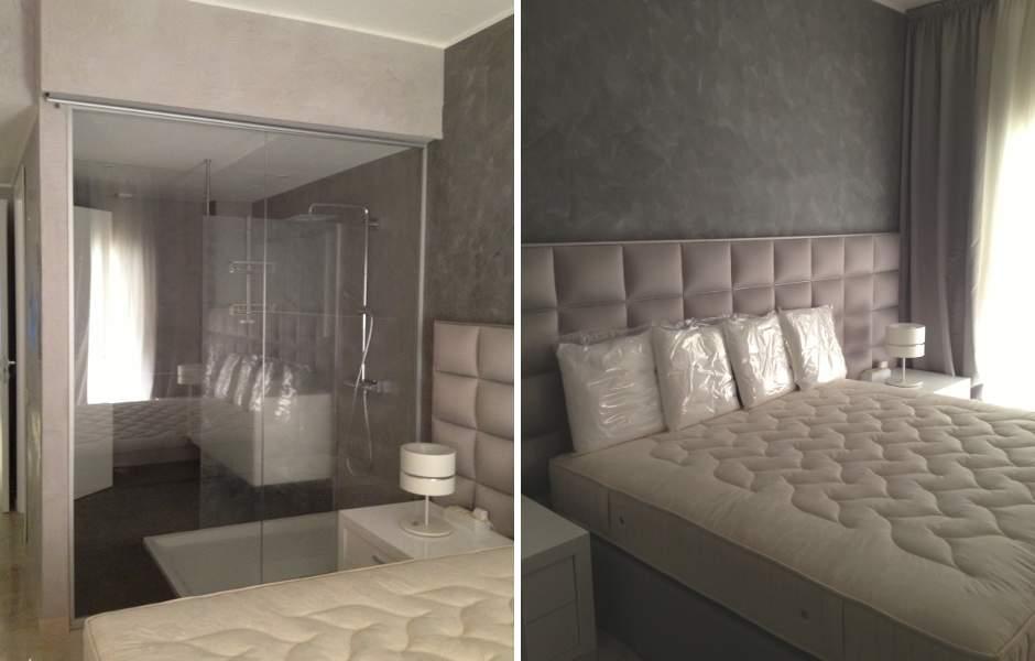 Bagno in camera a vista design casa creativa e mobili for Camera matrimoniale e piani bagno